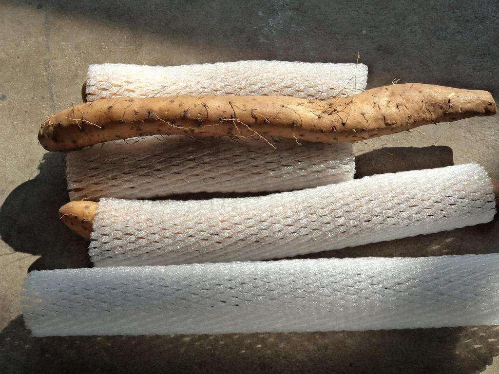 珍珠棉蔬菜套一般用于在运输途中防刮伤
